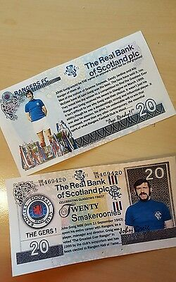 Glasgow Rangers FC John Greig commemorative Note