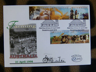 Scarce Alpha First Day Cover - 1998 Farming Australia Set 5 Stamps