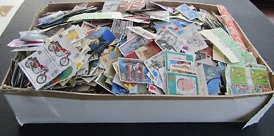 Great Britain - Huge Colln Of Stamps In Old Shoebox - All Periods - Est 14/000+