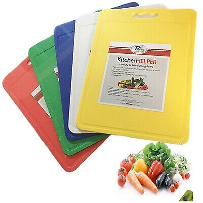 Chopping Cutting Board Kitchen Mat Colour Plastic Meat Veg Food Worktop Large