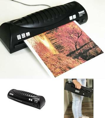 """Portable A4 9"""" Photo Laminating Machine Photo Quality Noiseless 2 Roller System"""