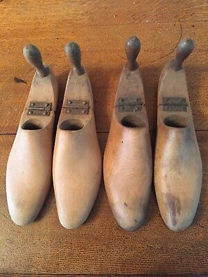 2 Pairs Of Antique Wooden Shoe Lasts