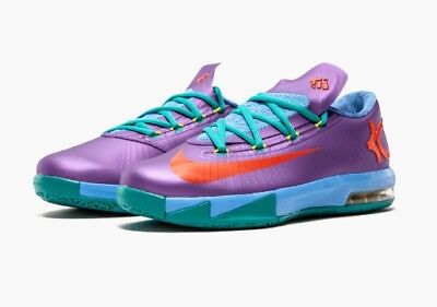 NIKE KD VI 6 Gs Candy Edition Lime Red Orange 599477-300 Size 7Y ... cae2a3396