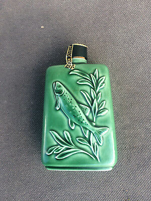 Peter Thomson Perth Beneagles Whisky Miniature Flask Hip Trout Beswick