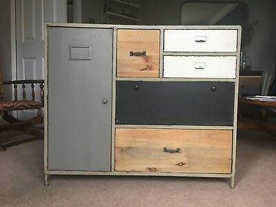 vintage industrial chest of drawers