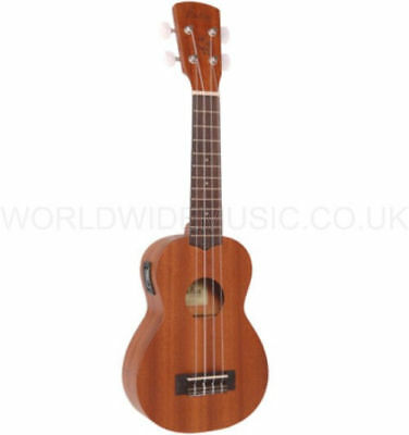 Vintage LAKA VUS50 Soprano Acoustic Ukulele with Onboard Chromatic Tuner - NEW