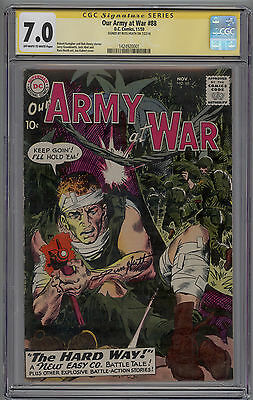 Our Army At War # 88 CGC SS 7.0 FN/VF Signed by RUSS HEATH 1st Sgt Rock Cover