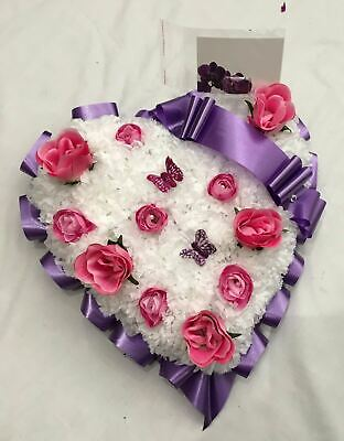 Mothers Day Artificial Silk Flower Heart Scatter Memorial Tribute Funeral False