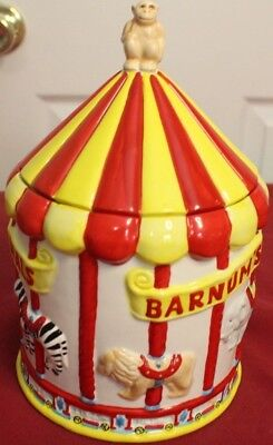 Vintage Barnum's Animal Carousel Cookie Jar - Nabisco Classics Collection