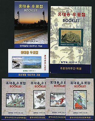 Korea Süd 1998-1999 (14) Verschiedene Markenhefte Different Stamp Booklets MNH