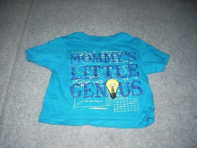 """Boys Baby/Toddler EST.1989 PLACE, Blue """"Mommy's Little Genius"""" Top, size 6-9 Mos"""