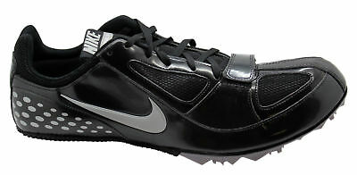 New Mens Nike Zoom Rival S5 Track Spikes Style 383822-002 Black/Silver 182M pr