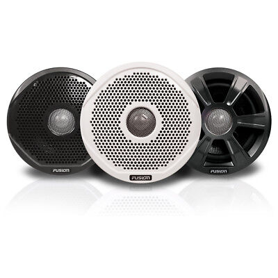 "FUSION FR6022 6"" Round 2-Way IPX65 Marine Speakers - 200W - Pair w/3 Speaker Gri"