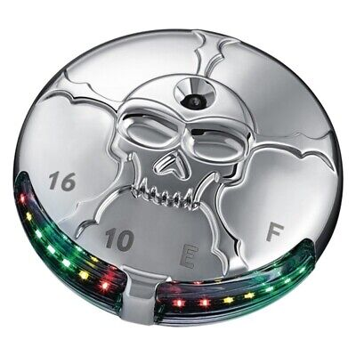 Kuryakyn - 7357 - Zombie LED Fuel, Battery Gauge (Chrome) Plug-and-Play Wiring