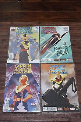 CAPTAIN MARVEL AND THE CAROL CORPS #1-4 Complete Set Series Run Lot VF to NM