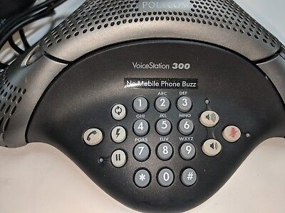 TWO Polycom VoiceStation 300 VS300 Conference Star Phone Telephone with cords