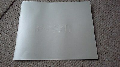 Bowie Reality Tour Program / From Wembley / Embossed Cover