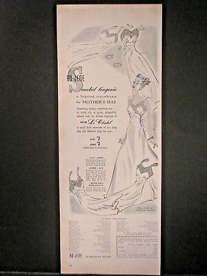 Vintage 1941 Ro-Jene Lingerie Ad...Scented.