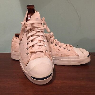 Vtg Jack Purcell White Posture Foundation BF Goodrich Pre Converse Shoes 12