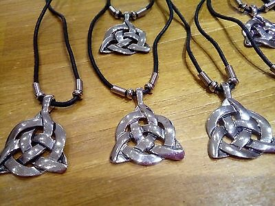 12 mens  cord necklace/silver pendant new.costume.