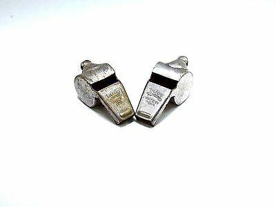 Vintage Pair Of Original The Acme Thunderer Whistle Best Quality Sounds. G47-73
