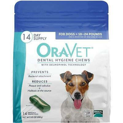 Oravet Dental Hygiene Chews Dogs 10-24lbs 14ct By Merial