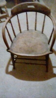 Old antique captains chair for restoration  renorvation
