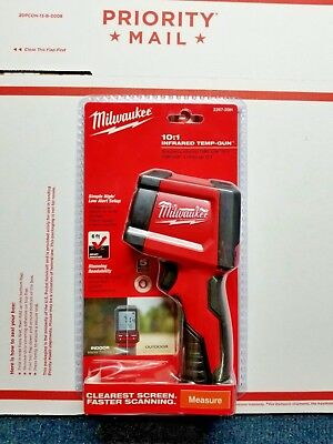 MILWAUKEE Laser Temperature Gun Infrared 10:1 Thermometer, 2267-20H, FREE S&H!