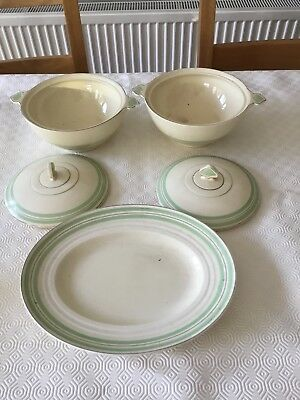 pottery newhall nirvana shape 2 tureen 1 oval plate 12ins one tureen small chip