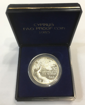 Cyprus 1985 FAO Forest Silver Proof