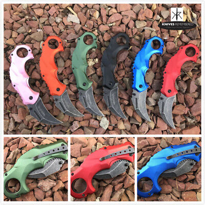 Monogram Custom Tactical Engraved Personalized Knife CSGO Karambit Hawkbill