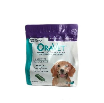 Oravet Dental Hygiene Chews Dogs 25-50lbs 30ct By Merial