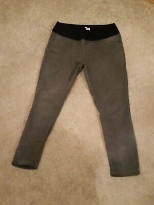Maternity Jeggings, Grey, Size 14R, Under Bump