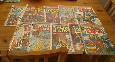 Marvel comics lot x 10,PLANET OF THE APES, early issues,,1975,v/g/f,all bagged