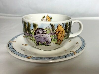 ROYAL DOULTONClassic Pooh Winnie the PoohPorcelain Teacup and Saucer 8oz