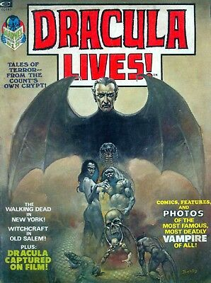 Us Marvel Black And White Horror Magazine Collection On Dvd Dracula Zombie ++