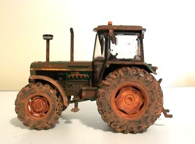 Britains John Deere 3650 Weathered Rusty Muddy Tractor In Original Packaging