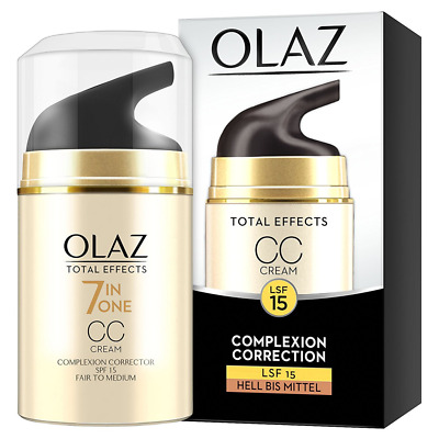 olaz total Effects CC Cream, Pieles tipos, Bomba, 1er Pack (1 x 50 ml)