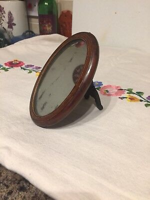 Small Vintage Mirror Wooden With Stand