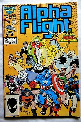 MARVEL COMIC. ALPHA FLIGHT. VOL 1.  No 39. OCTOBER 1986