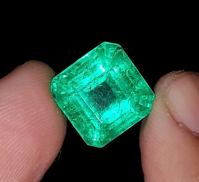 Square Shape 9.12 Ct  Certified Emerald Berill