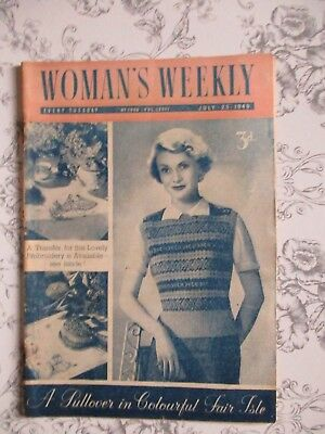 Woman's Weekly Magazine- Jul 23 1949 - 'Pullover in colourful Fair Isle'