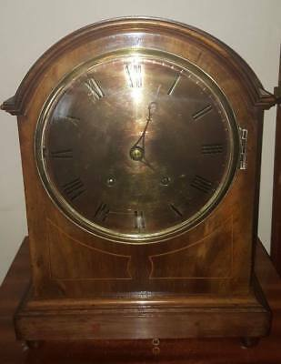 Victorian Winterhalder & Hofmeier Black Forest Oak Striking Bracket Clock