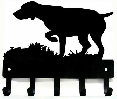 German Shorthaired Pointer Dog GSP #2 Leash Hanger Metal Key Rack Holder SM 6""