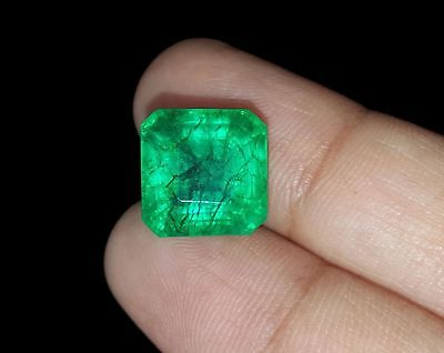 Square Shape 6.87 Ct Certified Emerald Beril