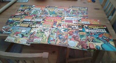 Bundle of Marvel comics ,PLANET OF THE APES,hulk and Dracula lives issues.1977.