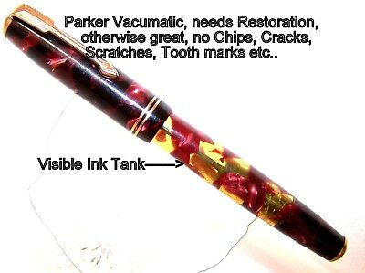 Parker Vacumatic Fountain Pen, perfect with visible Ink supply, as-is, as-found