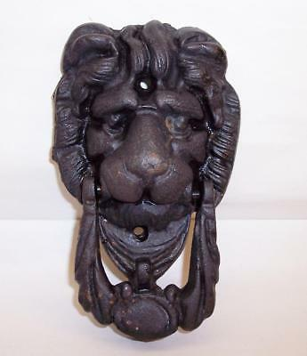 Antique / Vintage LIONS HEAD DOOR KNOCKER Cast Iron