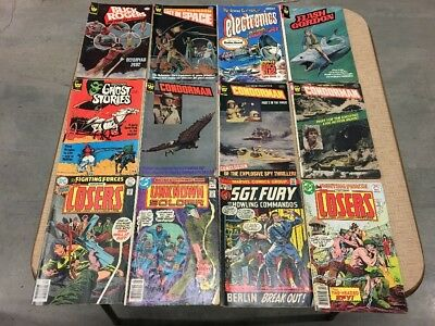 Old Vintage Comic Lot of 12 - Buck Rogers - Lost in Space - Flash Gordon & More