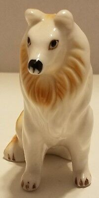 Vintage Porcelain collie dog Figurine - Ucagco - Made in Taiwan